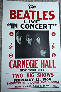 beatles carnegie hall poster