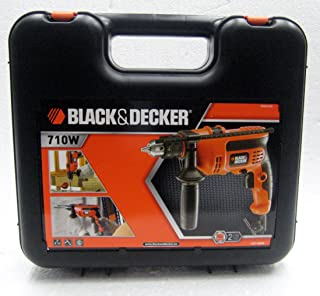 Black & Decker Corded Electric CD714REK - Drill with Black & Decker 50 Pieces Titanium Drilling A7066