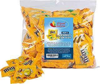 M&Ms Peanut Milk Chocolate Fun Size - Yellow Candy - 3 LB Bulk Candy