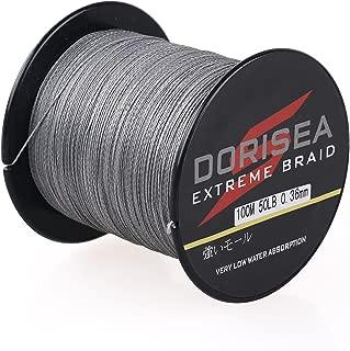Dorisea Extreme Braid 100% Pe Grey Braided Fishing Line 109Yards-2187Yards 6-550Lb Test Fishing Wire Fishing String-Abrasion Resistant Incredible Superline
