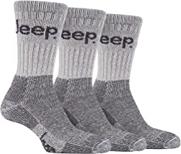 Mens Stone 3 Pair Luxury Jeep Terrain Walking Hiking Socks 6-11 uk, 39-45 eur