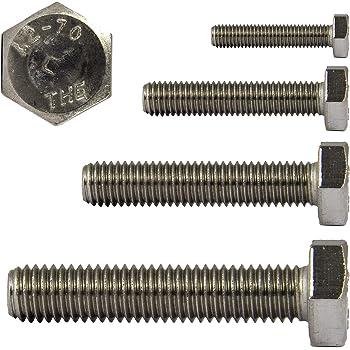 500 St/ück M8 x 12 mm Sechskantschrauben Niro Edelstahl A2 VA V2A DIN 933 Maschinenschrauben Gewindeschrauben