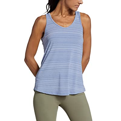 Eddie Bauer Trail Light Draped Back Tank (Metal Blue) Women