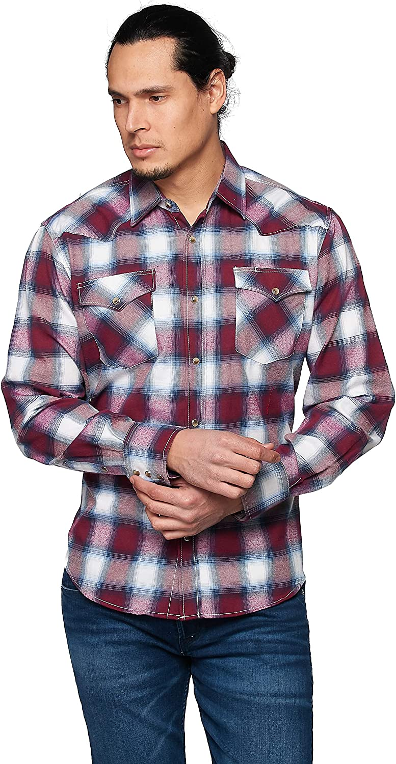 RCCO RODEO CLOTHING COMPANY Men's Flannel Long Sleeves Button Down Shirt