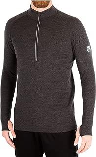 Mens Form Fitting Base Layer 100% Merino Wool Heavyweight 320g Half Zip Sweater for Men