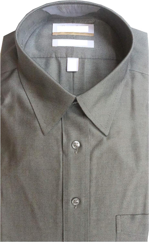 Gold Label Roundtree & Yorke Non-Iron Regular Point Collar Solid Dress Shirt G16A0132 Dark Grey