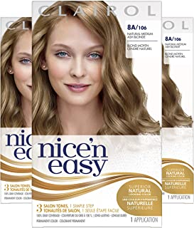 Clairol Nice'N Easy Original 8A Medium Ash Blonde (Pack of 3)