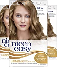 Clairol Nice'n Easy Original Permanent Hair Color, 8A Medium Ash Blonde, 3 Count