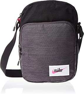 Nike Unisex Heritage Smit Small Items Bag, Black/Fuchsia