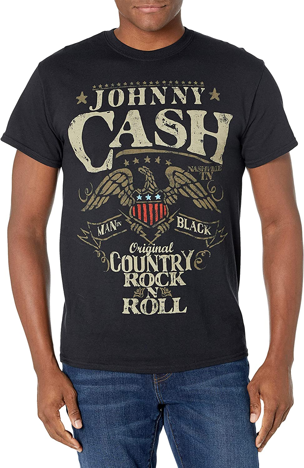 Johnny Cash Official Country T-shirt New color N Boston Mall Roll Rock