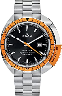 EDOX - 53200 3OM NIN - Reloj para Hombres, Correa de Acero Inoxidable