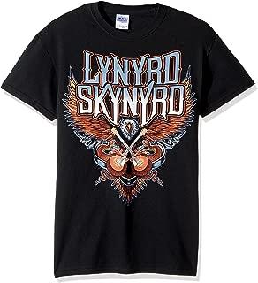 FEA Men's Lynyrd Skynyrd Eagle with Guitars Regular T-Shirt