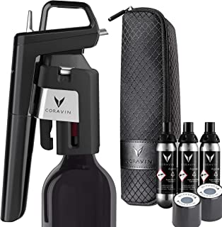 Coravin Model Six Advanced Wine Bottle Opener and Preservation System, Piano Black