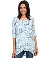 Miraclebody Jeans - Shea Waterlily Print Tunic w/ Body-Shaping Inner Shell