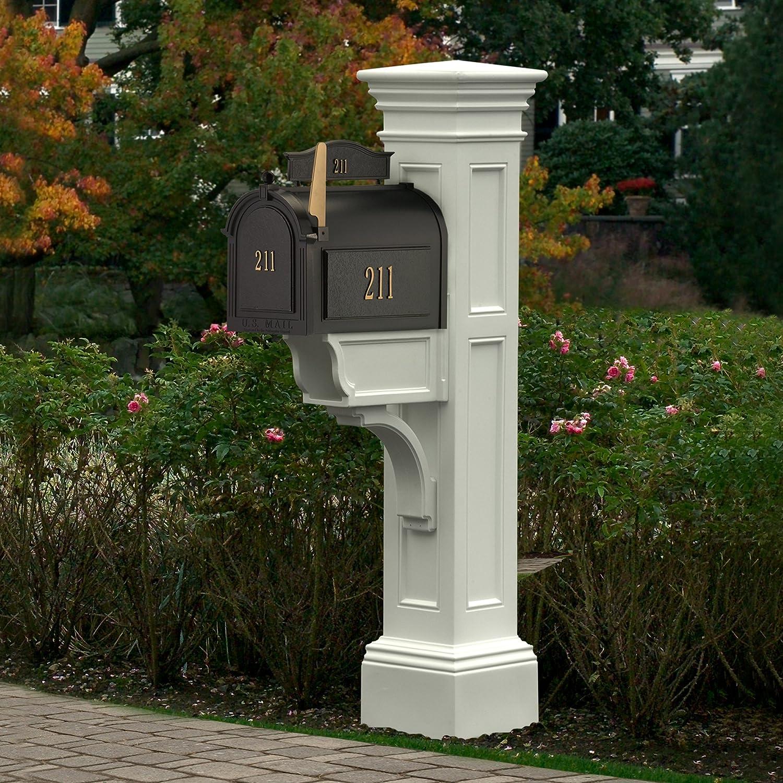 Mayne 8 BK Liberty Mailbox Post, Black, 8x8   Mailbox Poles ...