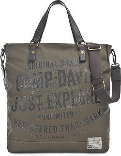 Camp David, Unisex Handtaschen, Shopper, Umhängetaschen, Khaki, 48 x 40 x 15 cm B x H x T