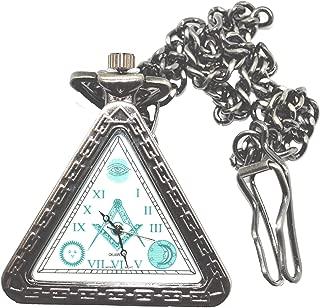 1920 Triangular Masonic Pocket Watch Freemason Lodge Replica
