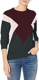 Lacoste Womens Long Sleeve Colorblock Jersey Sweater