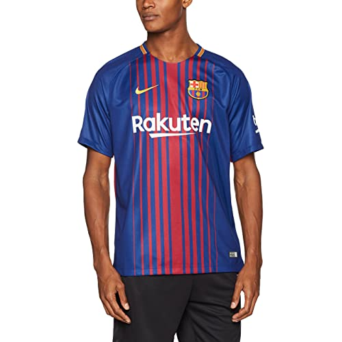 f17ab7c137e Nike 2017 18 FC Barcelona Stadium Jersey with Sponsor  DEEP Royal Blue