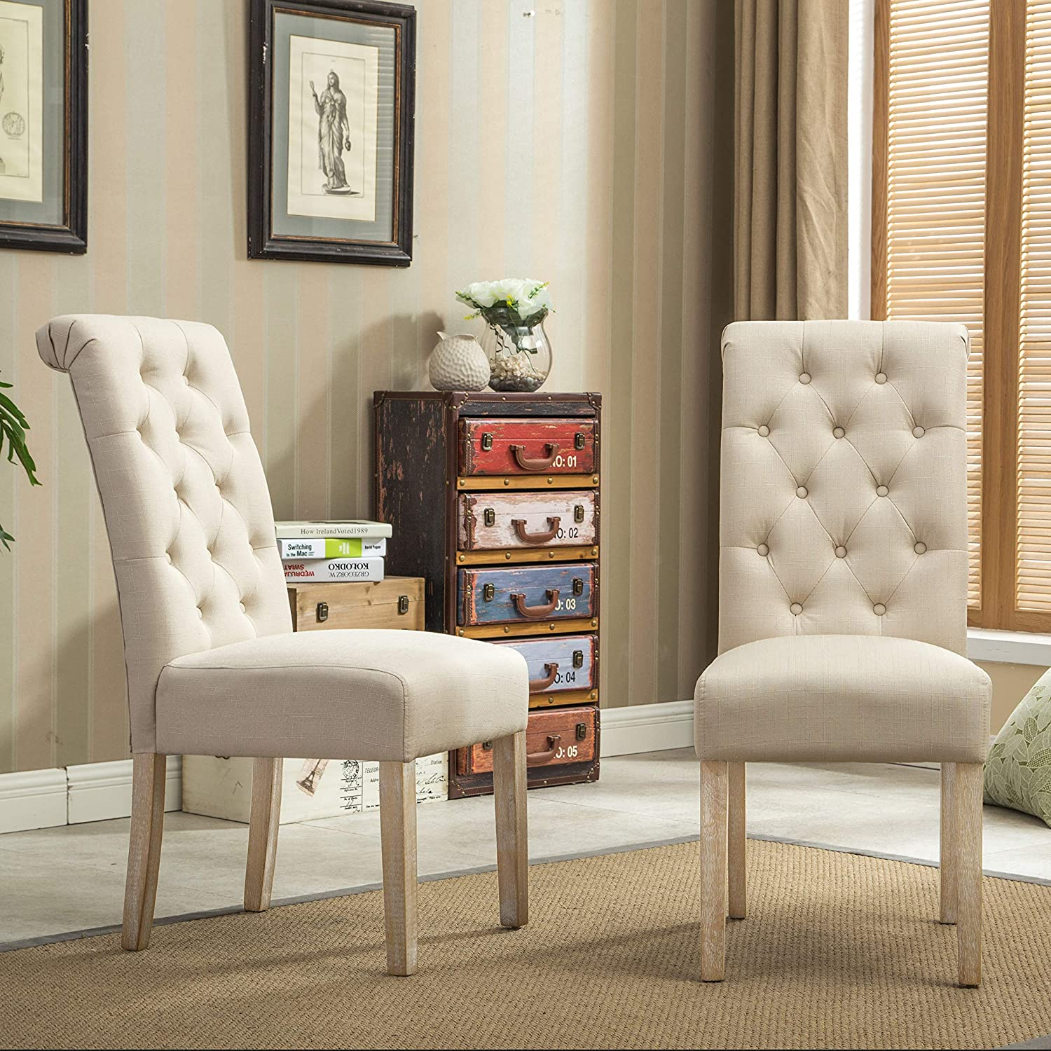 Best for Simplicity: Roundhill Furniture Dining Chairs.
