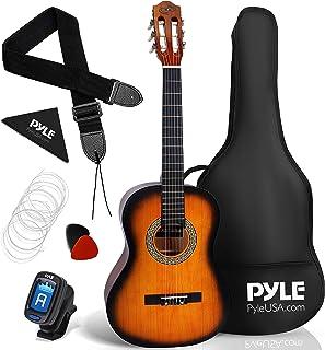 "Beginner 36"" Classical Acoustic Guitar - 3/4 Junior Size 6 String Linden Wood Guitar w/Gig Bag, Tuner, Nylon Strings, Pick..."
