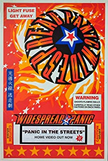 oddtoes concert posters and music memorabilia Widespread Panic Poster - Panic in The Streets Video Release - Set of Two (2)