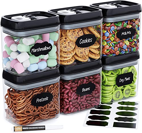 wholesale Airtight Food Storage Container Set - Set of 6, All Same Size, Includes Labels popular & Marker - Kitchen & Pantry Organization Dry Food Containers, BPA-Free - Clear Plastic Canisters with outlet online sale Improved Lids outlet sale