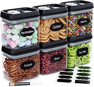 Chef's Path Airtight Food Storage Container Set - 10 Chalkboard Labels & Marker - Kitchen & Pantry Containers - BPA-Free -...