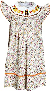 Baby Toddler Little Girls Thanksgiving Christmas Holiday Classic Bishop Dress