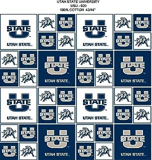 UTAH STATE UNIVERSITY COTTON FABRIC-UTAH STATE UNIVERSITY COTTON FABRIC SOLD BY THE YARD-