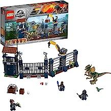 LEGO Jurassic World - Ataque del Dilofosaurio al Puesto de Vigilancia, Juguete de Construcción con Dinosaurios Creativo y Divertido (75931)