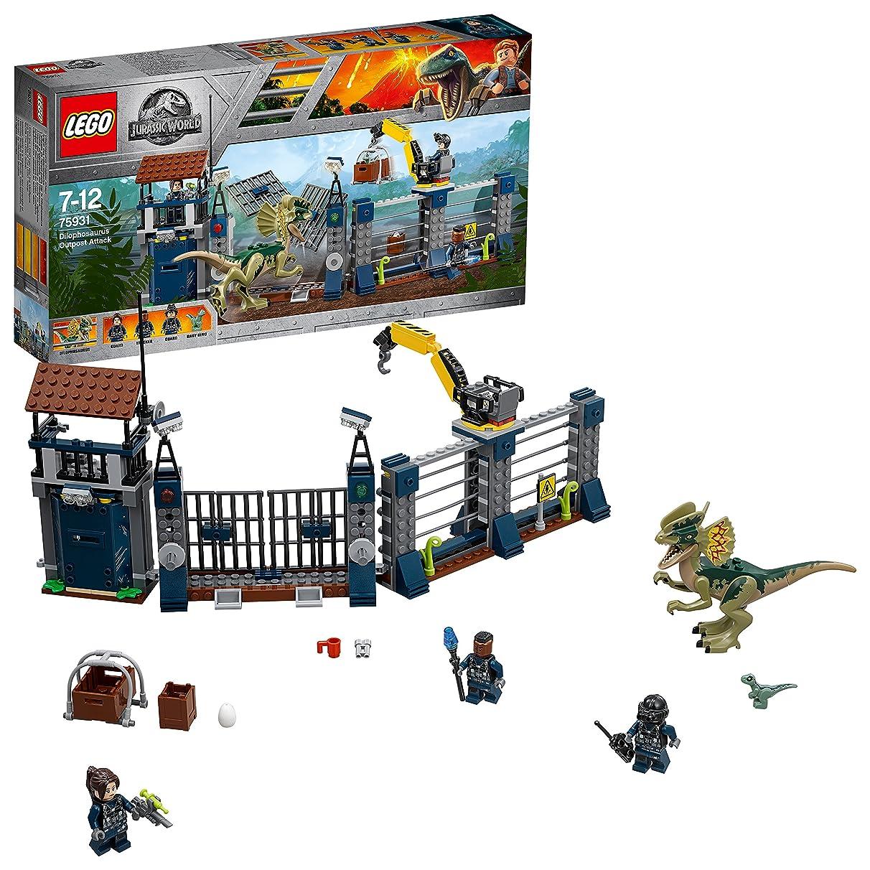 LEGO 75931 Jurassic World Dilophosaurus Outpost Attack Playset, Dinosaur Figures, Build & Play Dinosaur Toys for Kids