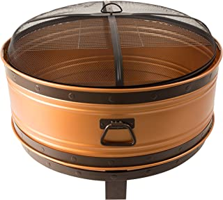 round fire pit snuffer