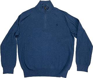 Polo Ralph Lauren Men's Waffle Knit Cotton Half-Zip Sweater