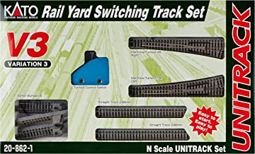 Kato USA Model Train Products V3 UNITRACK Rail Yard Switching Set