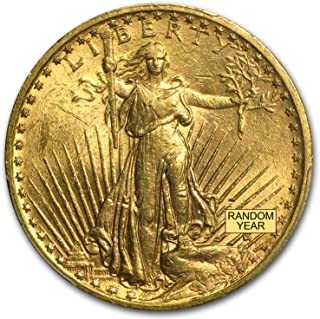 1907-1933 $20 Saint-Gaudens Gold Double Eagle BU (Random Year) G$20 Brilliant Uncirculated