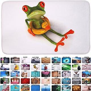 Sanilo Badteppich I viele schöne Badematten zur Auswahl I Badvorleger sehr weich und rutschfest I waschbar und schnelltrocknend 50 x 80 cm, Froggy