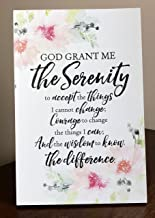 Serenity Prayer Plaque with Easel and Hanging Hook - God Grant me the Serenity - Life, Courage, Wisdom and Motivational Christian Religious Home Decoration Frame | Suitable for Wall - Tabletop Decor