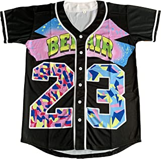 Benny 'The Jet' Rodriguez 30 The Sandlot Legends #23 Bel Air Short Sleeve 3D Print Fashion Baseball Jersey
