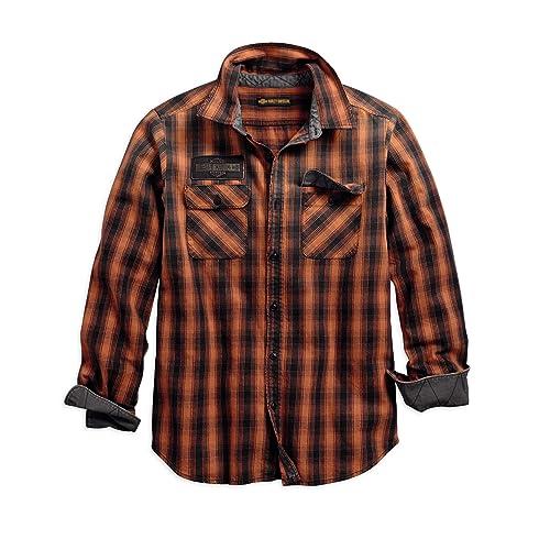 243a6dfd Harley-Davidson Official Men's Oak Leaf Plaid Slim Fit Shirt, Plaid