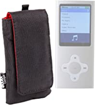 DURAGADGET Black Cushioned Music Player Case/Pouch with Belt Loop - Suitable for The Bush 16GB 2.8 Inch MP3/MP4 Player