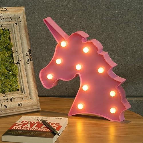 CO Z Unicorn Light Shaped Night Lamp For Girls Kids Room Decor