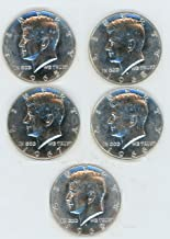 1965, 1966, 1967,1968-D, 1969-D 40% Silver Kennedy Half Dollar Lot of (5) Coins Brilliant Uncirculated