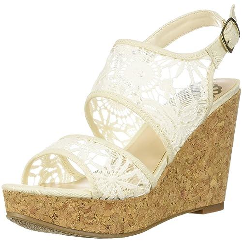 1dd3946bef1 White Lace Wedges: Amazon.com