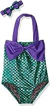 Wandafull Little Girls Swimsuits for Girl one Piece Mermaid Princess Toddler Bikini Swim Bathing Suit+Headband