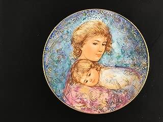 Edna Hibel Mothers Day Plate - 1984 Abby & Lisa 22k Gold w/ COA orig Box #254 B