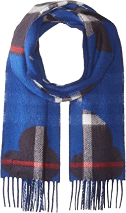 Burberry Kids - Rain Check Reversible Cashmere Scarf (Little Kids/Big Kids)