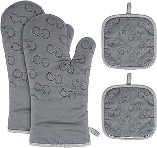 Rękawiczki do garnków, kuchenne, odporne na wysokie temperatury, bawełniane rękawice do piekarnika i garnków, antypoślizgo...