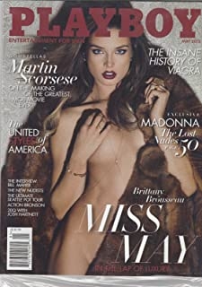 PLAYBOY MAGAZINE, ENTERTAINMENT FOR MEN MAY, 2015 MADONNA THE LOST NUDES