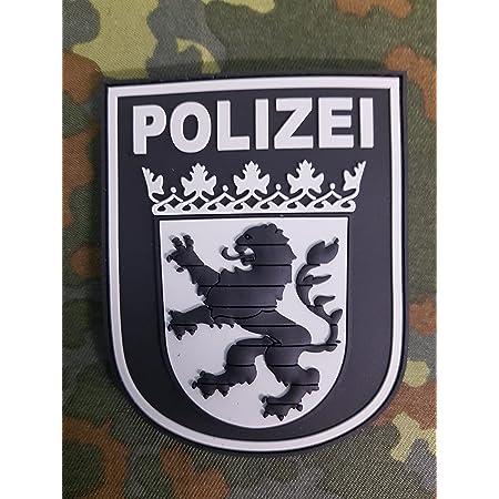 Atg Ärmelabzeichen Polizei Hessen 3 D Rubber Patch Blackops Auto